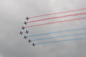 French tricolor at Le Bourget Air-Show by Rikitza