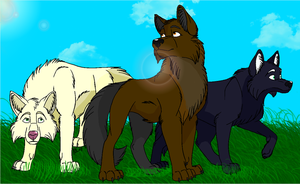 Devia and her brothers by Earthen-wolf-spirit
