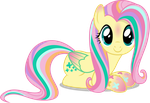 Fluttershy - Rainbowfied from Group Shot by CaliAzian