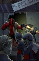 HellBoy for zdavino by theartful-dodge