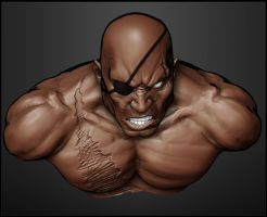 sagat quick sculpt by aaronfang-art