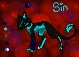 Sin reference sheet by Blackwolves6