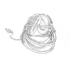 Pencil Work: Headphones by RegularFrankyFan