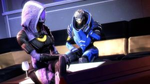 Tali and Garrus by AngryRabbitGmoD