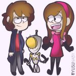 Gravity Falls.- Zim and Dib by yusunaby