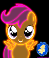 Neon Scootaloo by ZantyARZ