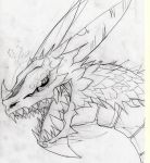 Dragon draft drawing by CHETz