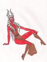 Shaak Ti by 13foxywolf666