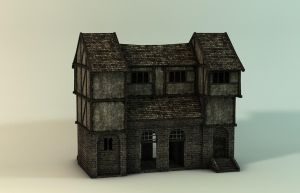 medieval house by karlwirbelwind