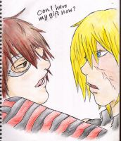 Mello's gift to Matt by ailuj93