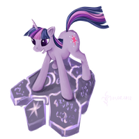 Twilight Sparkle magik plate by Dalagar