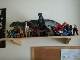 Dinosaurs...On me shelf by Alien-Psychopath