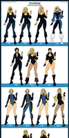 Black Canary Costume Chronology by Femmes-Fatales