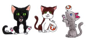 Kittys for #LovelyAdoptables by letiza