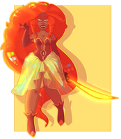 Commission: Fire Opal [ Revamp ] by kyoukorpse