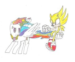 Super Sonic and Super Rainbow by segajosh3