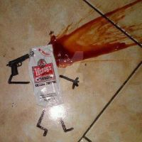 suicide of ketchup by mordekayrigby