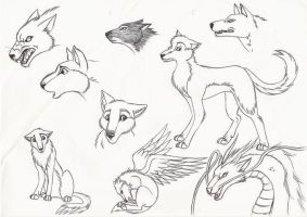 Wolves by Kitsune--Rin