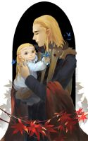 Thranduil and Legolas by tinyyang