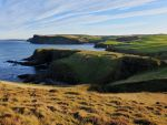 Cliffs and Pennan Bay by martinemes