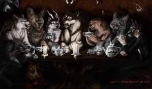 Fuzzy Teaparty by latent-ookami