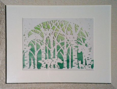 Papercut - Forrest of Friends by luthien368