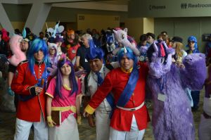 BronyCon 2013 - Twilight + Shining Armor by AleriaVilrath