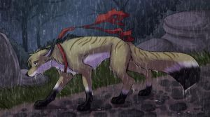 In the Rain by howlingvoice