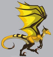 Honey Dragon by MightyRaptor