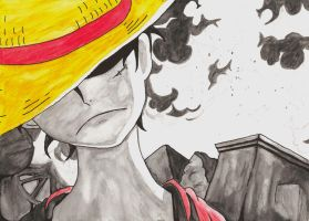 Monkey D. Luffy by Matilzie