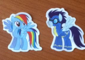 SoarinDash Stickers by LittleCloudie