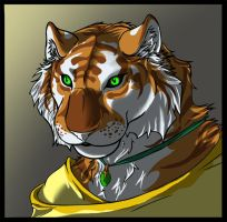 Golden Tiger by Sephiroth-Strife