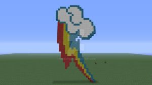Rainbow dash cutie mark pixel art by Phot0pon3