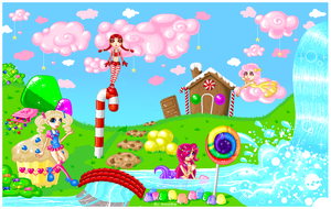 Pixel Candy Land by Annortha