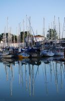 Harbor Reflection by 10000Greetings