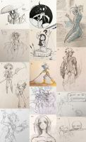 Wakfu Sketch Dump by ElleRey
