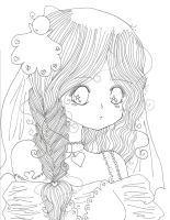 Pure White Lineart by SirenMermaid