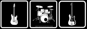 guitar drums and bass by neilakoga