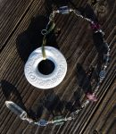Spiral Focus with Flourite + Hematite and Quartz - by DreamingDragonDesign