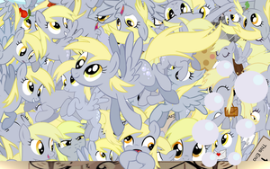 Derpy Ditzy explosion wallpaper with Cutie mark by Starlyk