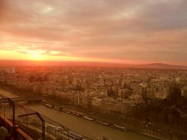 A Very Parisian Sunset. by freak7391
