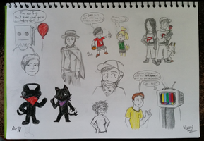 Monstercat Halloween Sketches - 2 by iamthek3n
