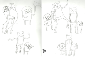 Finn and Jake sketches by iedasb