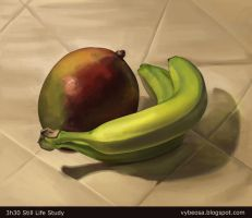 Mango and Bananas by AnnickHuber