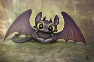 Baby Toothless by Nszerdy