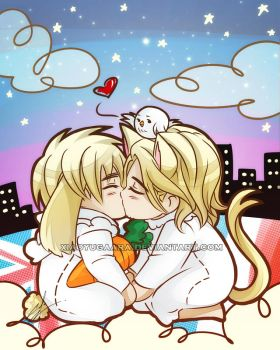 APH: I kiss you goodnight by xiaoyugaara