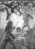 The Witcher 3 Wild Hunt Drawing by Bajanoski