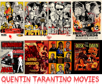 Quentin Tarantino Movies by tocaimacomics