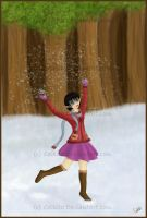 Frolicking in the Snow by Ceibita