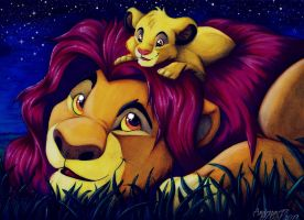 Simba and Mufasa by andropov97